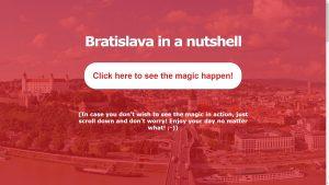 Bratislava in a nutshell - stručná stránka o mojom rodnom meste v angličtine